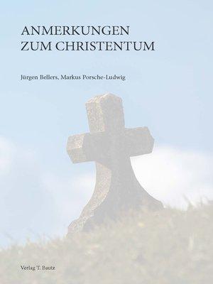 cover image of Anmerkungen zum Christentum