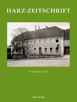 cover image of Harz-Zeitschrift