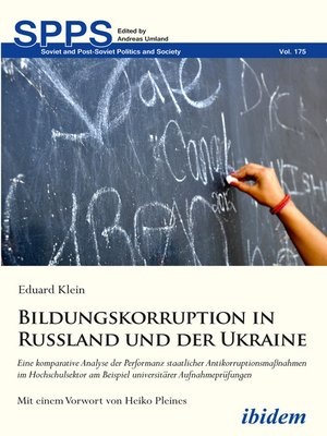 cover image of Bildungskorruption in Russland und der Ukraine