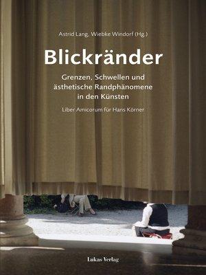 cover image of Blickränder