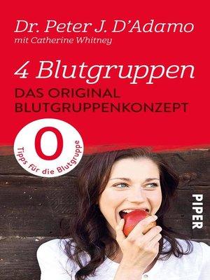 cover image of Das Original-Blutgruppenkonzept