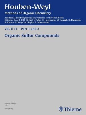 cover image of Houben-Weyl Methods of Organic Chemistry Volume E 11 Supplement
