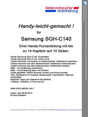cover image of Samsung SGH-C140-leicht-gemacht