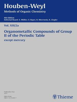 cover image of Houben-Weyl Methods of Organic Chemistry Volume XIII/2a