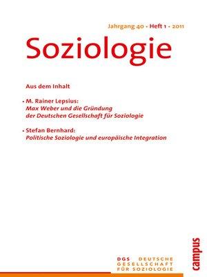 cover image of Soziologie 1.2011