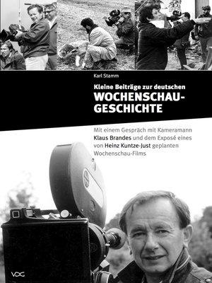 cover image of Kleine Beiträge zur deutschen Wochenschau-Geschichte