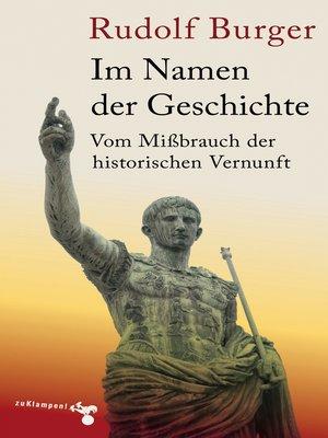 cover image of Im Namen der Geschichte