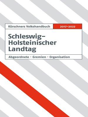 cover image of Kürschners Volkshandbuch Schleswig-Holsteinischer Landtag