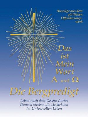 cover image of Die Bergpredigt