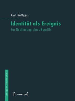 cover image of Identität als Ereignis