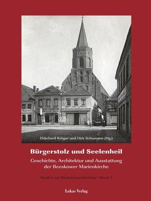 cover image of Studien zur Backsteinarchitektur / Bürgerstolz und Seelenheil