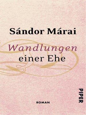 cover image of Wandlungen einer Ehe