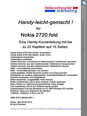 cover image of Nokia 2720 fold-leicht-gemacht