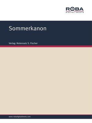 cover image of Sommerkanon