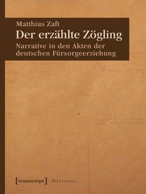 cover image of Der erzählte Zögling