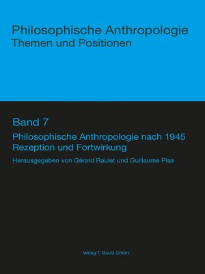 cover image of Philosophische Anthropologie nach 1945