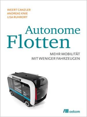 cover image of Autonome Flotten