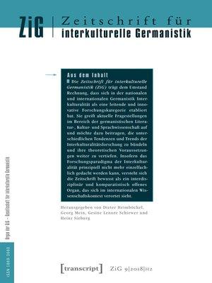 cover image of Serie Zeitschrift für interkulturelle Germanistik, Buch 18