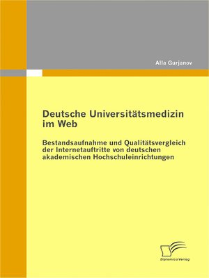 cover image of Deutsche Universitätsmedizin im Web