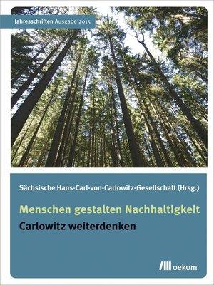 cover image of Menschen gestalten Nachhaltigkeit