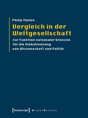 cover image of Vergleich in der Weltgesellschaft
