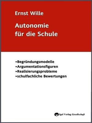 cover image of Autonomie für die Schule
