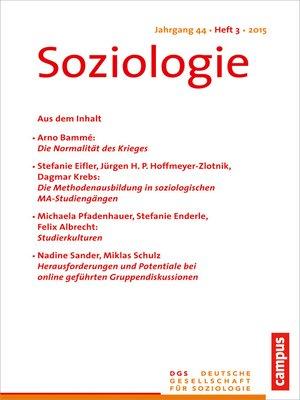 cover image of Soziologie 3.2015