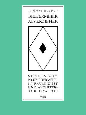 cover image of Biedermeier als Erzieher