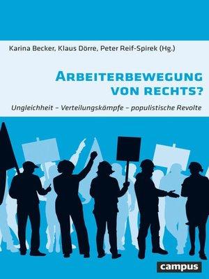cover image of Arbeiterbewegung von rechts?
