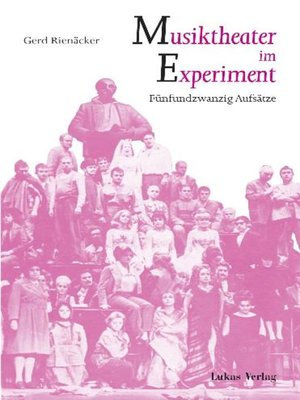 cover image of Musiktheater im Experiment