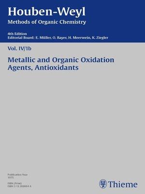 cover image of Houben-Weyl Methods of Organic Chemistry Volume IV/1b