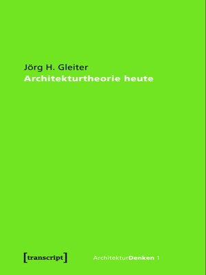 cover image of Architekturtheorie heute