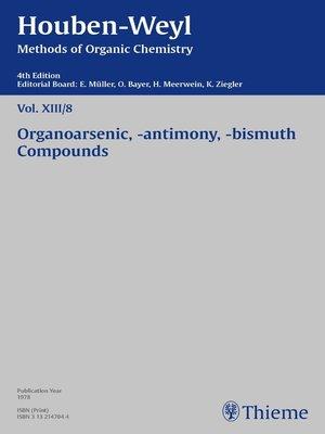 cover image of Houben-Weyl Methods of Organic Chemistry Volume XIII/8