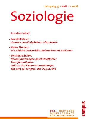 cover image of Soziologie 2.2008
