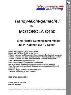 cover image of Motorola C450-leicht-gemacht