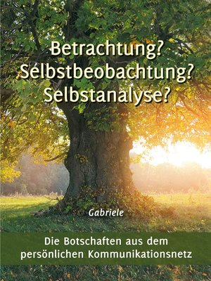 cover image of Betrachtung? Selbstbeobachtung? Selbstanalyse?