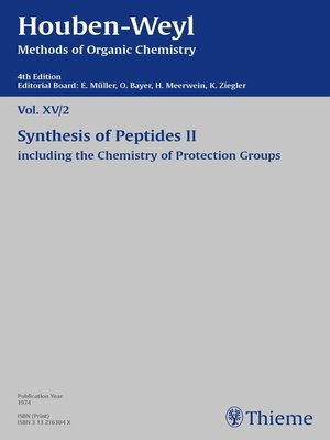 cover image of Houben-Weyl Methods of Organic Chemistry Volume XV/2