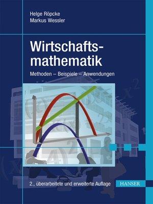 cover image of Wirtschaftsmathematik