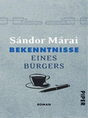 cover image of Bekenntnisse eines Bürgers