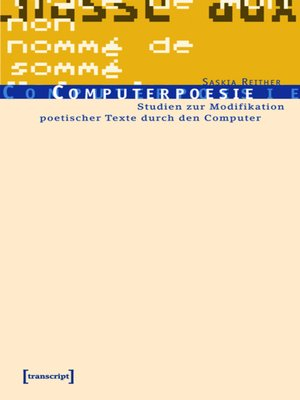 cover image of Computerpoesie
