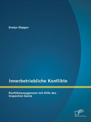 cover image of Innerbetriebliche Konflikte