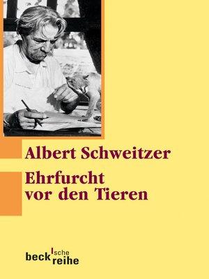 cover image of Ehrfurcht vor den Tieren