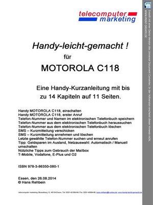 cover image of Motorola C118-leicht-gemacht