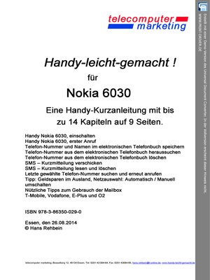 cover image of Nokia 6030-leicht-gemacht