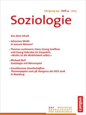 cover image of Soziologie 4.2015
