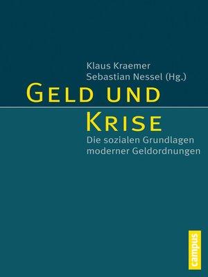 cover image of Geld und Krise