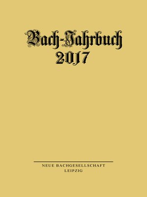 cover image of Bach-Jahrbuch 2017