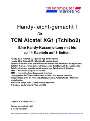 cover image of Alcatel XG1 (Tchibo2)-leicht-gemacht