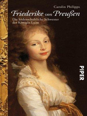 cover image of Friederike von Preußen