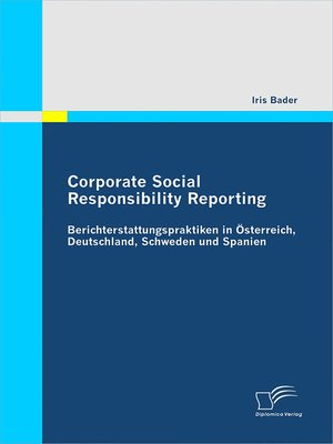 cover image of Corporate Social Responsibility Reporting